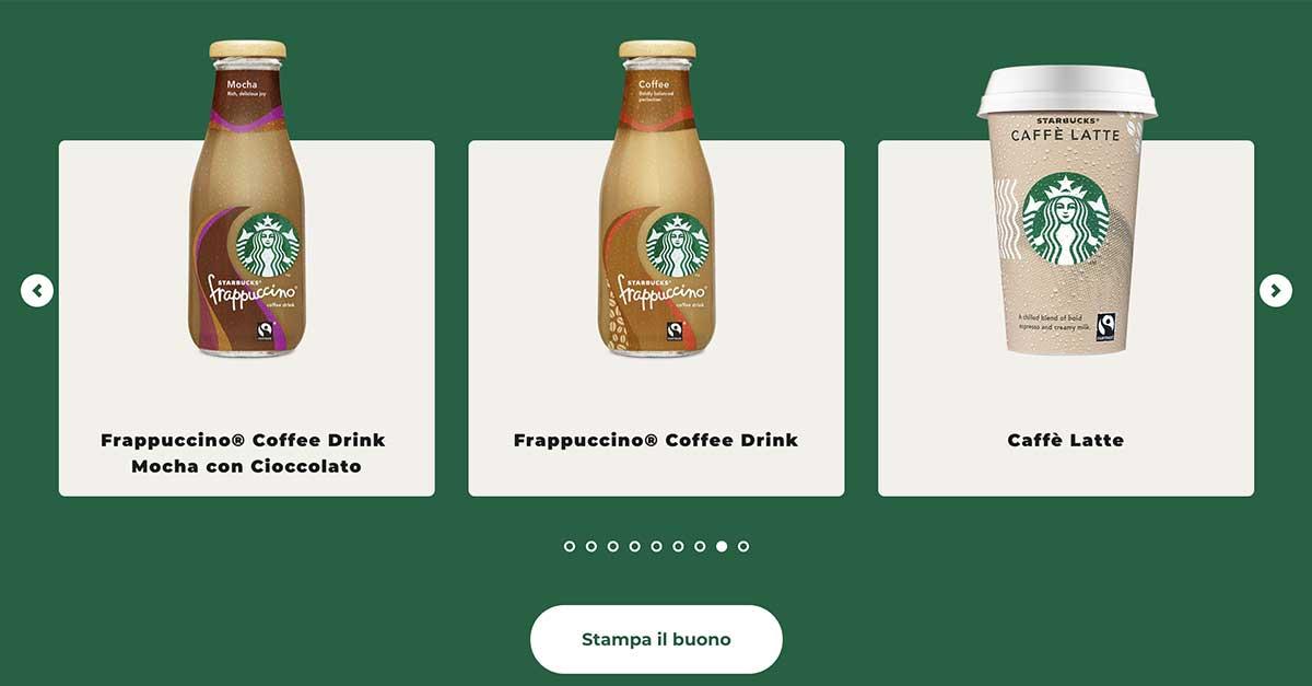 Buoni sconto Starbucks